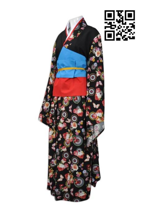 CP008  設計日系女款和服  訂購後背蝴蝶結cosplay  全件花印圖案 角色扮演 戲劇 製作個性cosplay和服   cosplay專門店