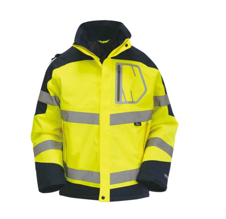 SKRC006  製作反光防護服 訂購反光棉沖鋒衣  定制防水保暖工作服  反光外套製衣廠  反光外套價格