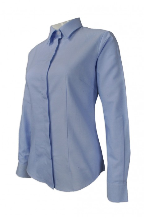 R232   訂購修身女款恤衫  來樣訂造女裝長袖恤衫  香港  Wyeth   恤衫製衣廠