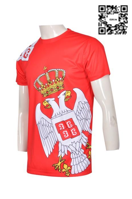 T318 個性熱昇華T恤設計印製 鷹頭圖案熱升華  保齡球衣 全件印 熱昇華T恤公司 熱升華生產商