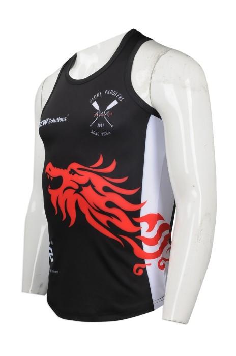 VT180 來樣訂造熱升華背心T恤 網上下單熱升華背心T恤 划艇比賽 獨木舟 槳板運動 隊衫 熱升華供應商