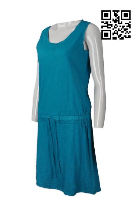 FA335  訂購無袖連身裙  設計束腰連身裙  大量訂造時尚款式 連身裙hk中心