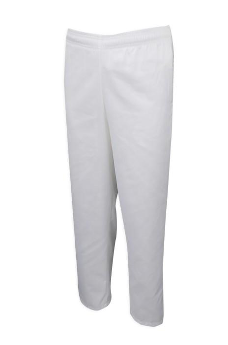 H228 製造白色工裝斜褲 設計橡筋頭斜褲 斜褲製衣廠