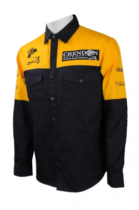 D235 度身訂製長袖工業制服 自製繡花logo款工業制服 澳洲 CREDDON 工業制服製造商