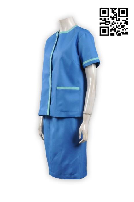 UN159工作制服套裝 供應 企業 制服 接待 員 制服 連 身 裙 來樣訂購制服套裝 網上訂製制服 工作制服公司