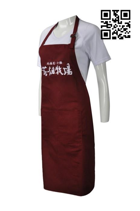 AP099  製作員工圍裙款式   訂造工作圍裙款式    自訂牧場圍裙款式   圍裙製衣廠