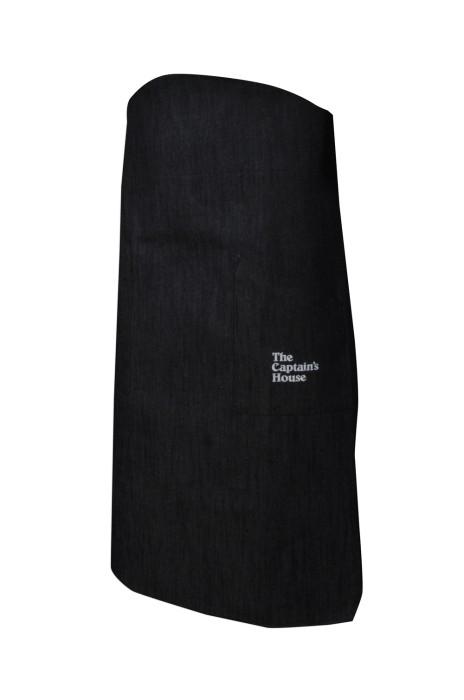 AP102 訂購牛仔圍裙  設計半身西餐廳圍裙 牛仔布 香港西式海鮮餐廳 侍應圍裙  製造廚師半身圍裙  圍裙製造商