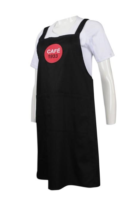 AP105 供應圍裙 自製l繡花logo圍裙 專業訂製圍裙 複合式咖啡館 長圍裙 生產商