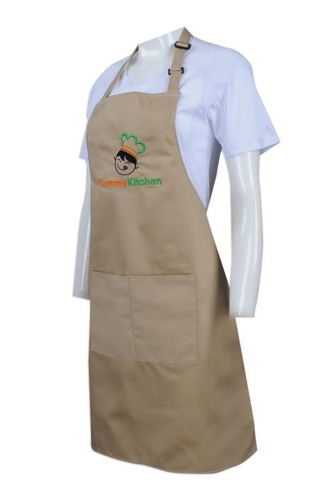AP107 大量訂製員工專用圍裙 設計繡花logo圍裙  社會企業 飯堂 餐飲制服 圍裙供應商