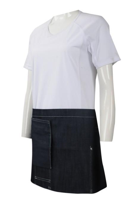 AP113 訂造牛仔圍裙 設計半身牛仔圍裙 網上下單牛仔圍裙 製作牛仔圍裙供應商