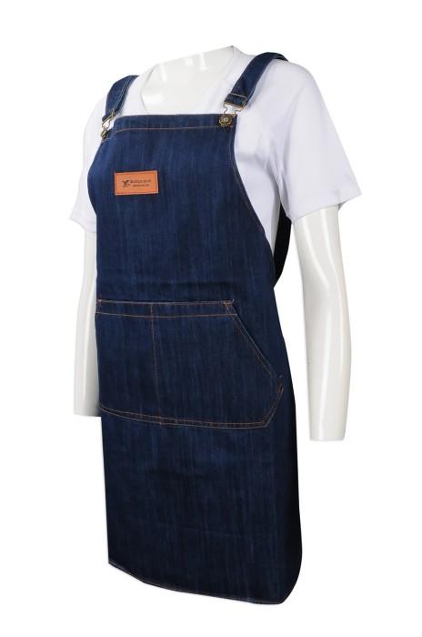 AP114 來樣訂做牛仔圍裙 設計牛仔圍裙款式 全身牛 訂造牛仔圍裙供應商