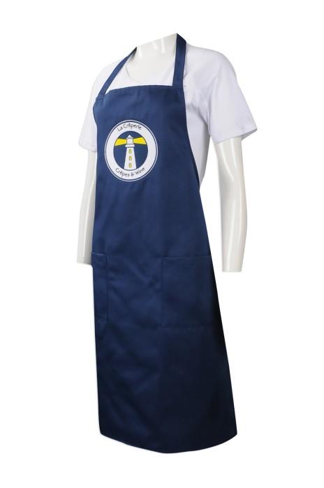 AP118 訂造員工專用圍裙 製作繡花LOGO款圍裙 自訂團體圍裙生產商
