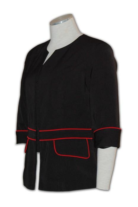BWS070訂製西裝制服  訂購團體西裝制服 中袖  在線訂購西裝制服  貼服 輕巧 冇肩墊 西裝制服專門店