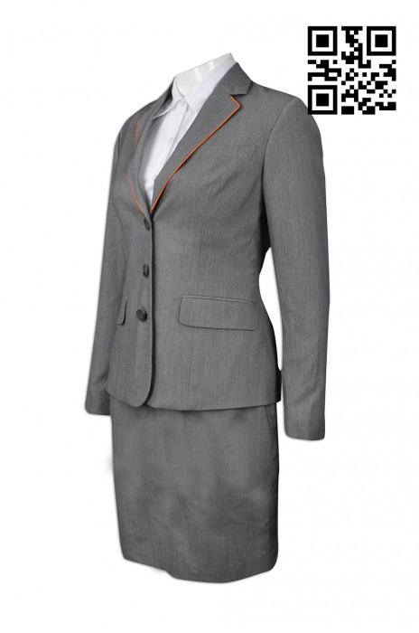 BWS073 製造量身西裝款式    設計女西裝款式  旅遊接待 導遊制服 旅行社制服  訂造西裝款式   西裝專門店