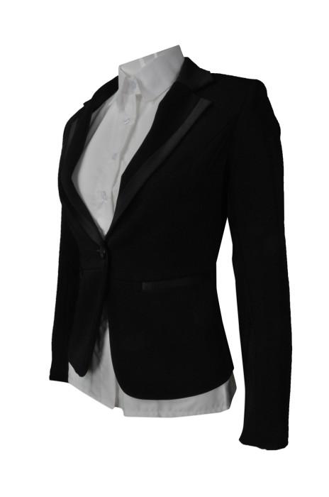 BWS075   訂造修身女裝西裝   設計正裝女裝西裝外套  網上下單西裝外套  西裝製衣廠