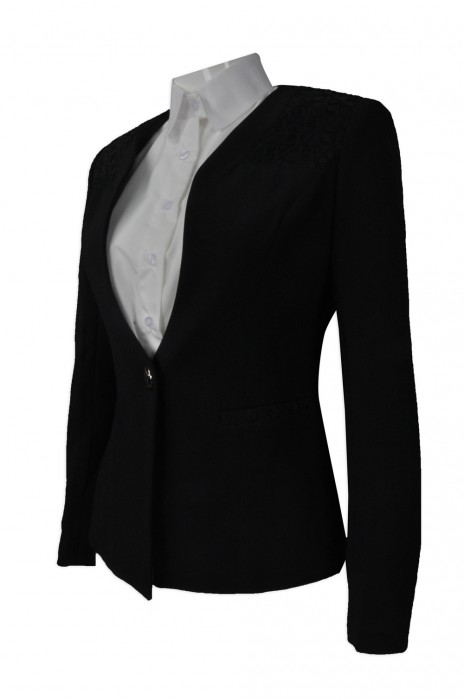 BWS077  製作修身女裝西裝  供應行政西裝外套  來樣訂造西裝  西裝供應商