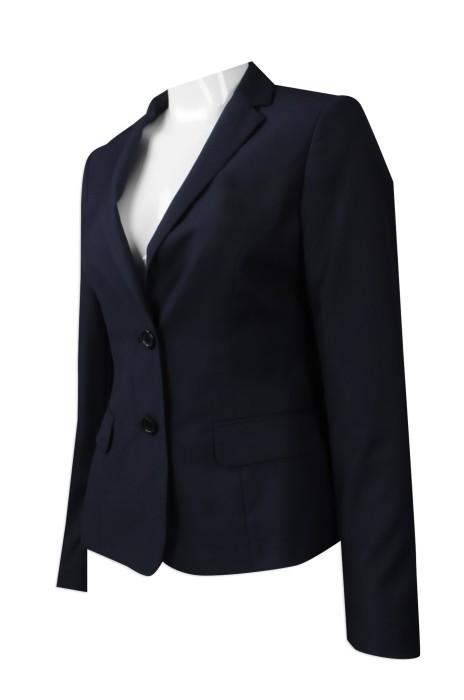 BWS084 度身訂做女款西裝外套制服 網上下單女款西裝外套制服 澳門 警察局 女款西裝制服製造商
