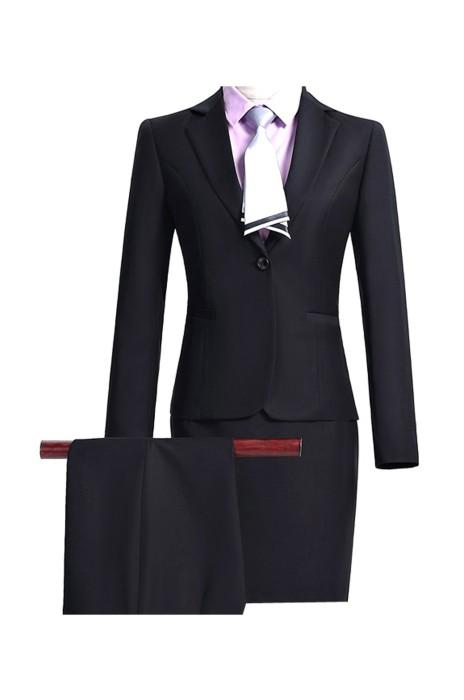 BWS095 來樣訂造商務女西裝  網上下單女西裝 面試西裝工裝 銀行酒店銷售工作服 女西裝製造商