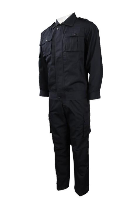 SE054  製造保安制服   訂購安保人員制服    製造長袖保安制服  瑞士  SES  保安制服hk中心