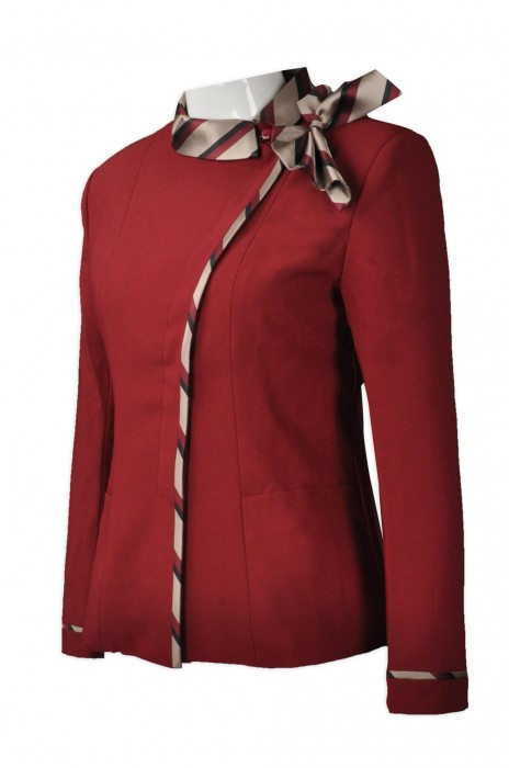HL009 訂購家政專用制服   設計酒店大堂制服  來樣訂造酒店制服 酒店制服供應商