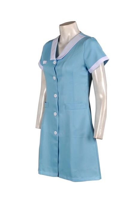 NU019來樣訂做護士服  訂購團體診所制服  設計診所制服款式  訂造護士制服公司