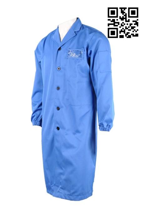 NU026 訂製連身醫生袍 設計長款醫生制服 訂購團體男士醫生制服 診所制服專門店HK