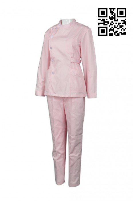 NU036 訂購護士制服套裝 供應純色護士裝 上下身套裝 網上下單護士制服 護士制服專營  醫護衫褲