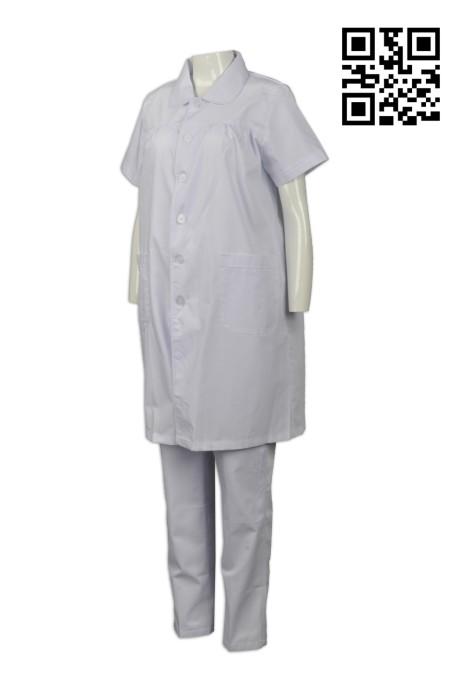 NU037 訂造孕婦護士制服 設計寬鬆護士制服 度身訂造護士制服 護士制服供應商