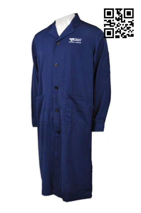 NU039  設計制服袍醫生袍  網上下單實驗袍  來樣訂造工作袍  醫生袍製衣廠