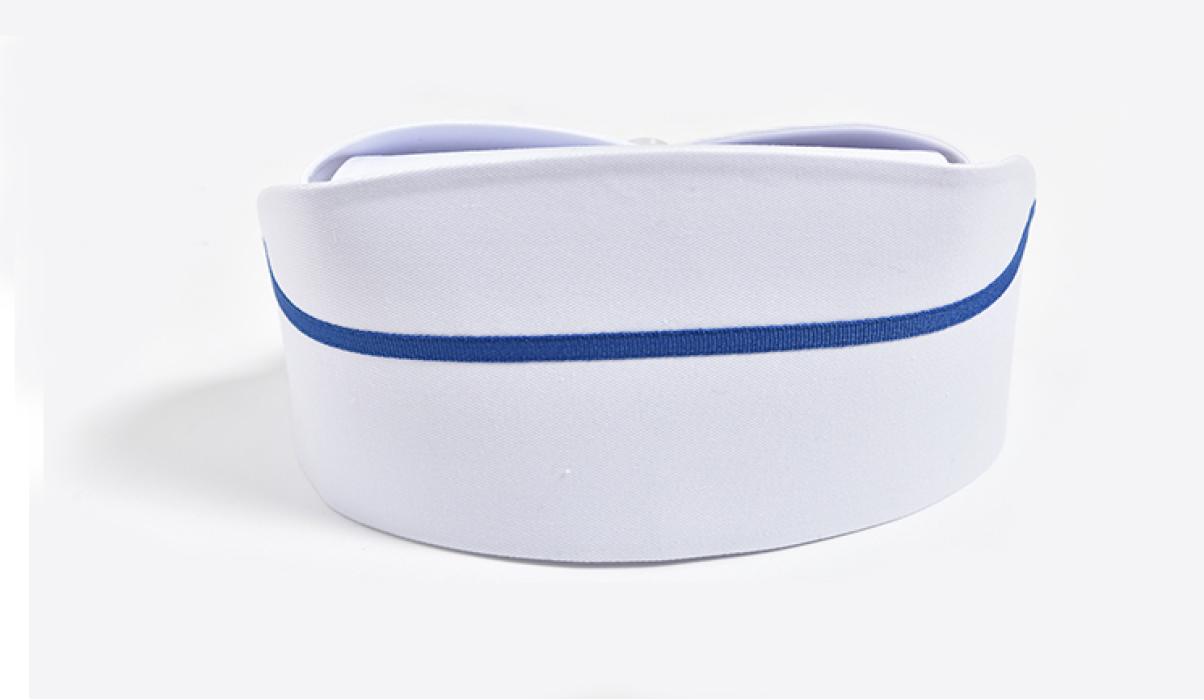 SKNC002  度身訂造護士帽  來樣訂造護士帽  橫杠護士帽 網上下單護士帽   護士帽供應商