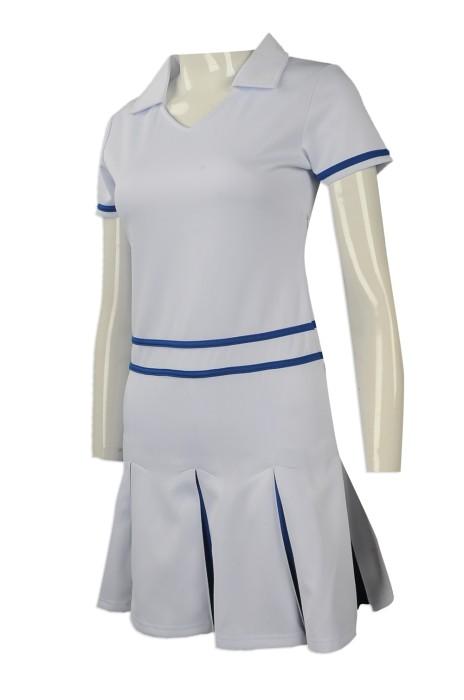 CH173 度身訂製女裝連身裙啦啦隊服 設計百褶裙女裝啦啦隊服 香港 啦啦隊服專營店
