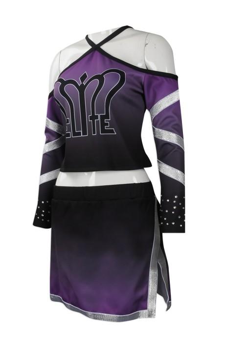 CH184 來樣訂做女裝啦啦隊服 設計吊帶 燙金款啦啦隊服 訂造啦啦隊服專營店