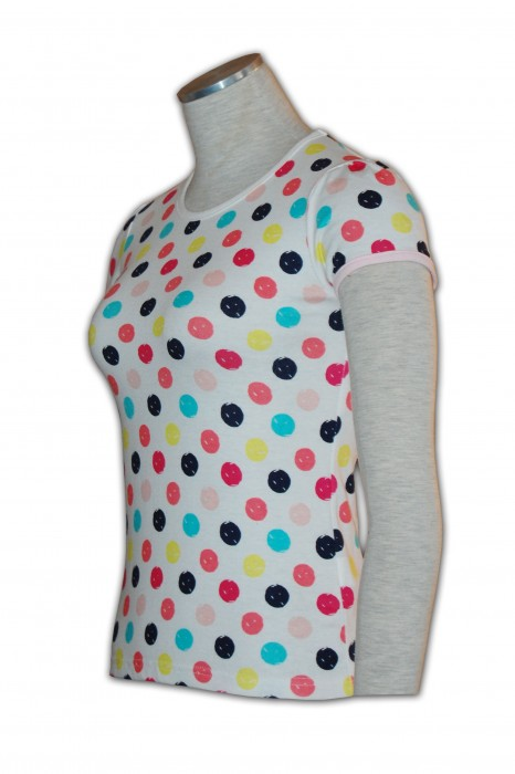 KD011 修身棉tee shirt來版訂做 彩色波點TEE T恤專門店