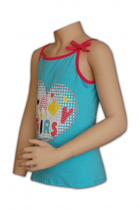 KD013 童裝背心度身訂造 立體膠印背心 蝴蝶綁帶背心 背心專門店