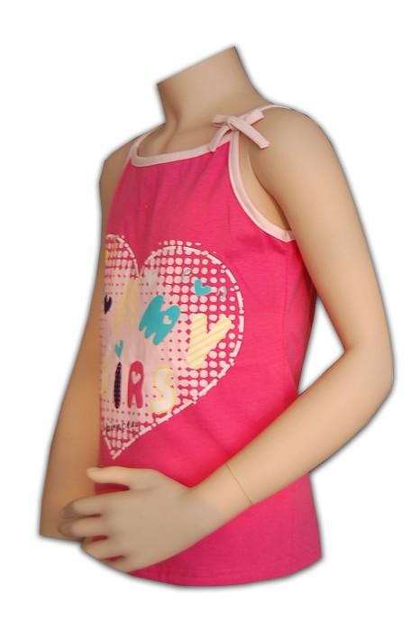 KD014 小童印花背心 來樣訂做 心形圖案背心款式 背心在線訂購 背心網站
