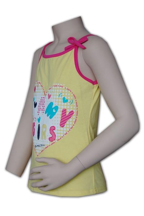 KD015  童裝吊帶背心訂造 可愛印花背心 童裝背心生產廠家