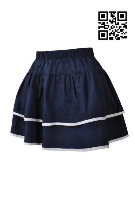 KD019  製造小童時尚裙裝   訂購橡筋裙頭短裙  百褶裙 水手服 網上下單短款裙裝  短裙專門店