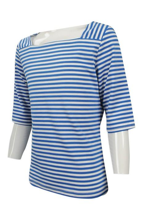 KD025 設計女童時裝款式 自製 闊領 條紋女童時裝款 小童時裝款式製作商