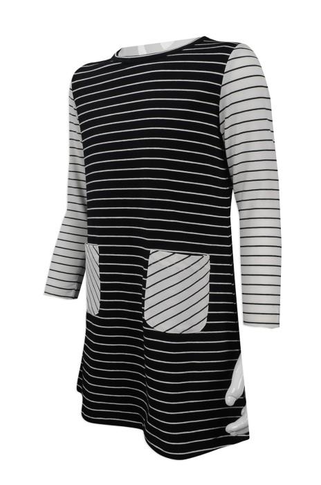 KD026 團體訂做小童長袖時裝款式 自訂撞色條紋兒童時裝款 小童時裝款製作中心