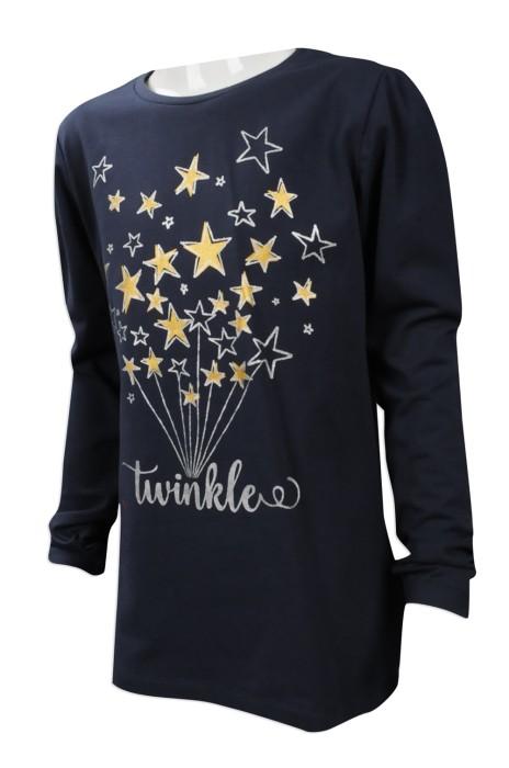 KD036 網上下單小童長袖T恤 自訂小童長袖T恤 台灣 製造小童T恤供應商