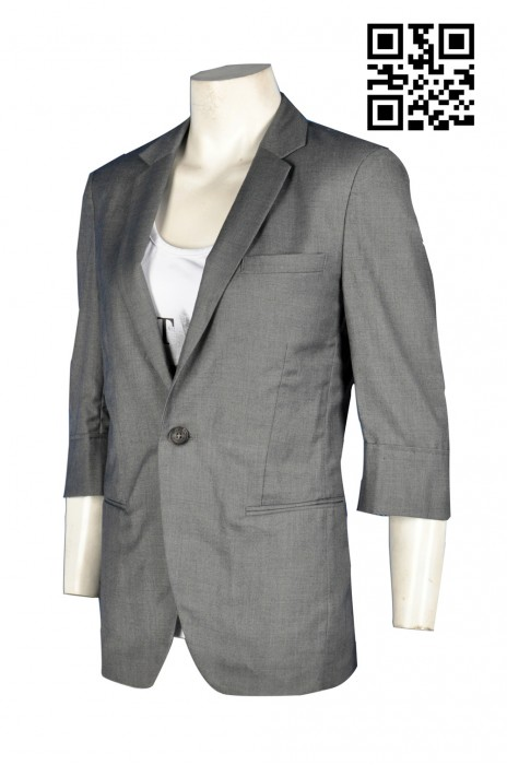 BS346訂造3/4 袖 7分袖西裝外套男士西裝款式訂製西裝外套中心訂購團體男士西裝  西裝外套製造商HK