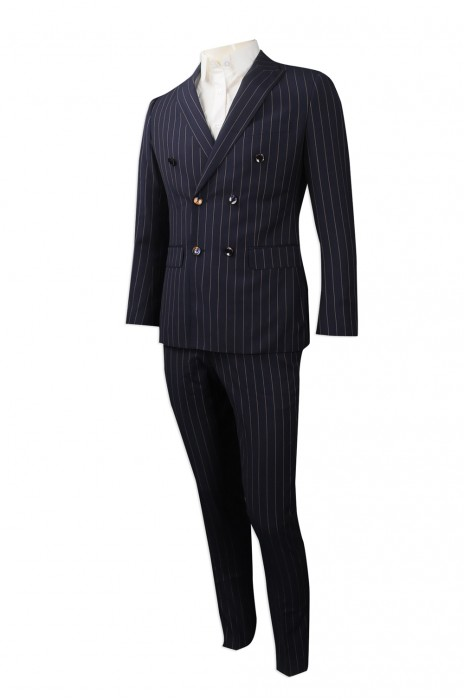BS362 來樣訂做男裝西裝套裝 團體訂製條紋西裝套裝 男裝西裝套裝供應商