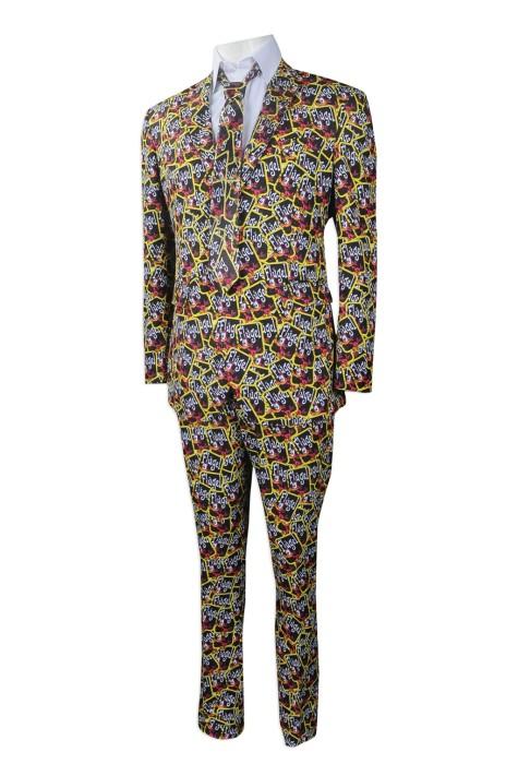 BS365 來樣訂做西裝套裝款式 訂造全件印花西裝 派對 party 表演 演出西裝 出show 設計西裝套裝專營店