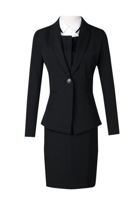 SKCS003  訂購職業套裝西裝裙 供應商務空姐制服 無袖馬甲連衣裙OL 西裝裙三件套