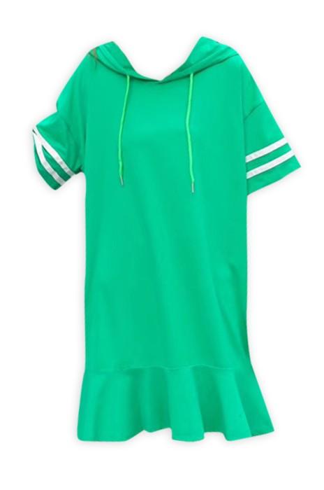 SKCS006  訂購短袖中連衣裙 設計中長款T恤棒球裙  網上下單棒球裙 棒球裙供應商