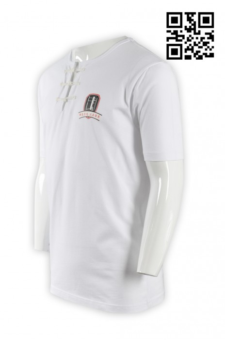 Martial009功夫T恤 半開胸T恤 印tee shirt 網上訂造T恤 度身訂製T-shirt T恤中心