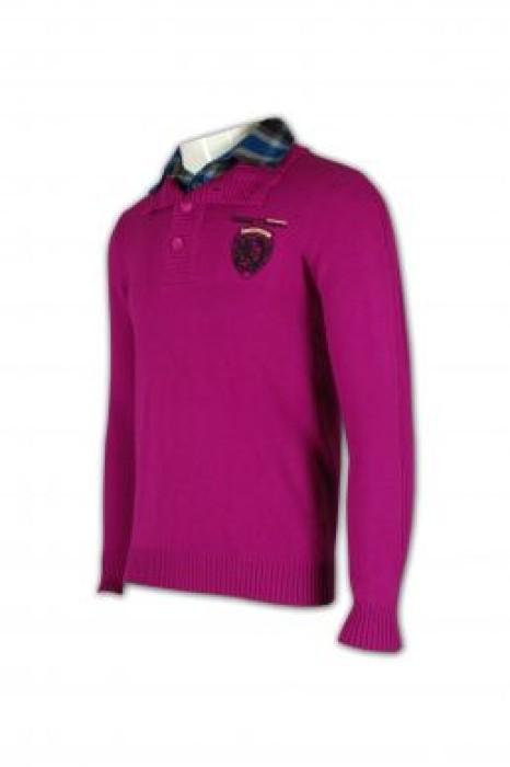JUM003 男裝企領冷衫網上購買毛衣 專營冷衫訂造 毛衫外套訂造