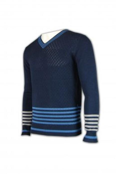 JUM008 橫紋冷衫 橫條紋毛衣外套 自訂毛衫款 套頭衫