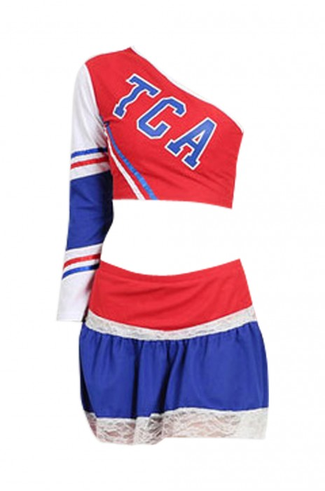 SKCU006 訂購個性啦啦隊服  製造時尚足球  啦啦隊舞台演出服  啦啦隊服專門店 現貨 價格
