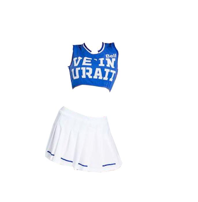 SKCU015 自製健美操啦啦隊服款式   訂做無袖啦啦隊服款式    製作分體啦啦隊服款式   啦啦隊服專營